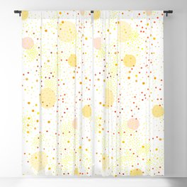 Seamless Pattern of a colorful dotted pattern Blackout Curtain