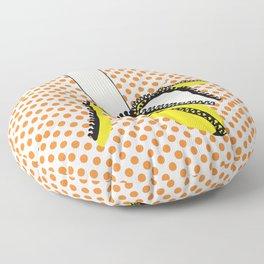 Pop Art Yellow Banana Zipped Floor Pillow
