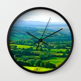 Fifty Shades of Green Wall Clock