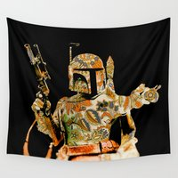 boba Wall Tapestries featuring Boba by Robotic Ewe