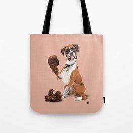 The Boxer (colour) Tote Bag