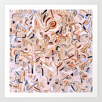 Watercolour abstract pattern 3 Art Print