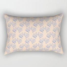 Art-Deco Print - Strokes, Blush/Blue Rectangular Pillow