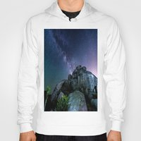 milky way Hoodies featuring Milky Way Rock by 2sweet4words Designs