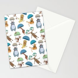 Parachuting Animals Stationery Cards