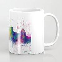 baltimore Mugs featuring Baltimore Skyline by Marlene Watson