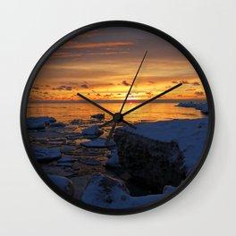 Pere Marquette Beach, Muskegon, MI Wall Clock