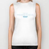 prometheus Biker Tanks featuring USCSS Prometheus - Crew Member Shirt by Artpunk101