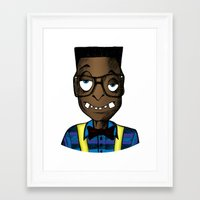 nerd Framed Art Prints featuring Nerd by DeMoose_Art