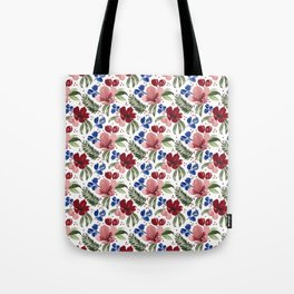 Red Floral Dance Tote Bag