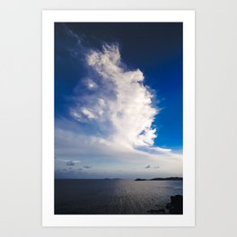 Cloud formation above Caribbean Sea Art Print
