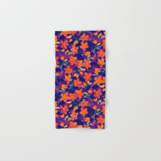 Japanese Garden: Blossoms Dk Hand & Bath Towel