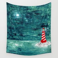 starry night Wall Tapestries featuring Starry Night by Ruth Oosterman