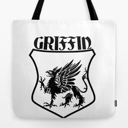 Griffin Name Shield Mythical Eagle Lion Tote Bag