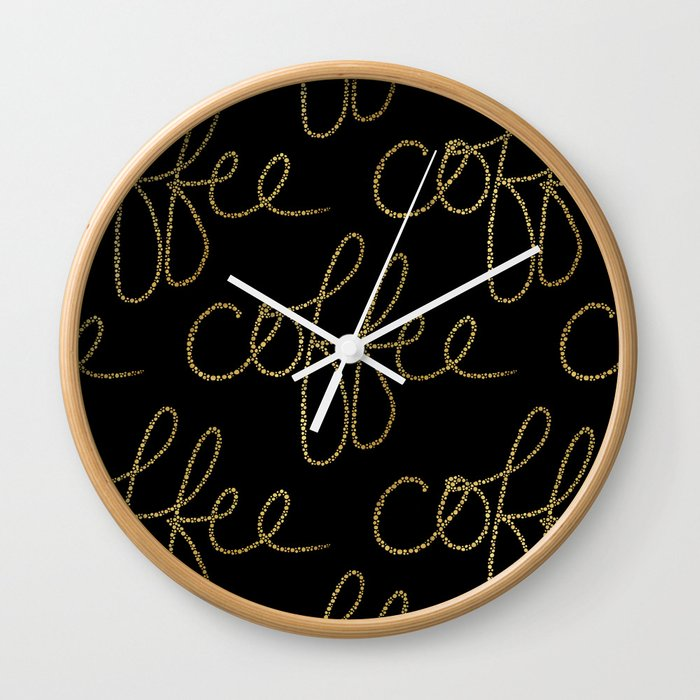 Coffee Dots Wall Clock