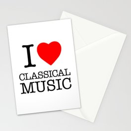 I Love Classical Music Stationery Cards