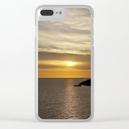 Sunset over the sea of Gaeta Clear iPhone Case