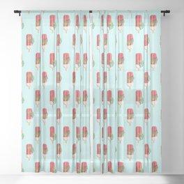 Tropical Popsicles #digitalart #yum Sheer Curtain