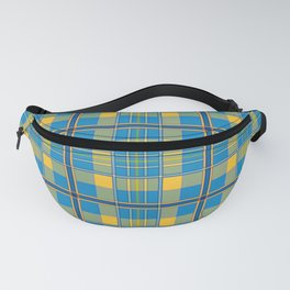 Blue and yellow plaid Fanny Pack