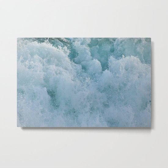 BUBBLES ON THE OCEAN Metal Print