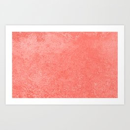 Living Coral - Color of the year 2019, Millennial Pink Grunge Ombre Pastel Texture Art Print