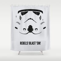 stormtrooper Shower Curtains featuring STORMTROOPER by d00d it's jake