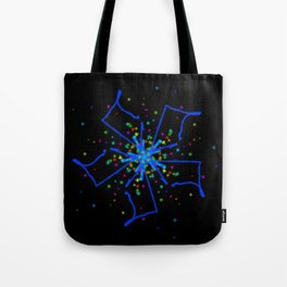 Windmill Kaleidescope Graphic Tote Bag