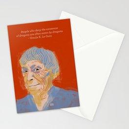 Ursula K. Le Guin portrait + quote Stationery Cards