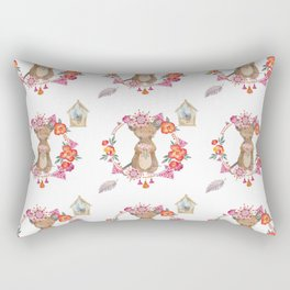Lufkin Mouse Repeat Pattern Illustration - Bagaceous Rectangular Pillow