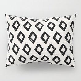Modern Diamond Pattern 2 Black on Light Gray Pillow Sham