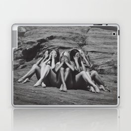 Desert Sirens (black and white) Laptop & iPad Skin