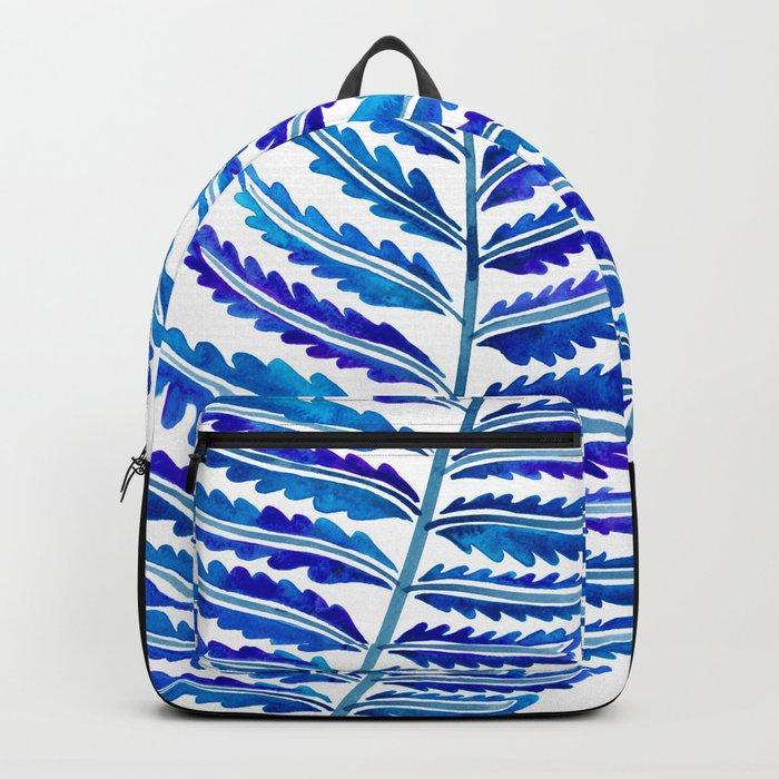 Fern Leaf – Navy Palette Backpack