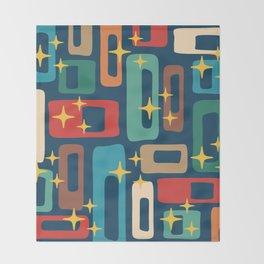 Retro Mid Century Modern Abstract Pattern 221 Throw Blanket