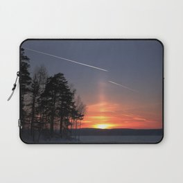 Flying at sunset Laptop Sleeve