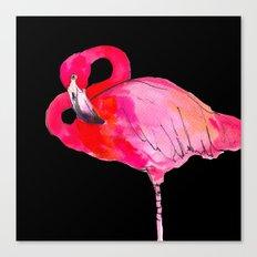 Fancy Flamingo Canvas Print