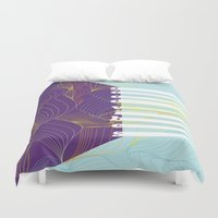 good vibes Duvet Covers featuring GOOD VIBES by Urban Artist