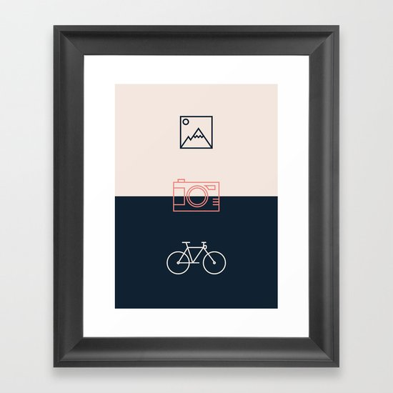 Ride and take pictures Framed Art Print