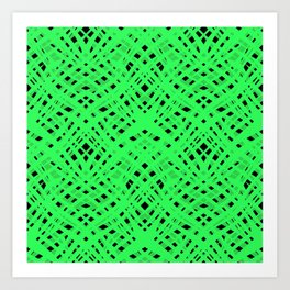 Green geometric Art Print