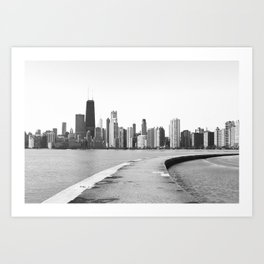Black & White Chicago Photograph Art Print