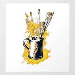 Happiness in a mug3 Art Print