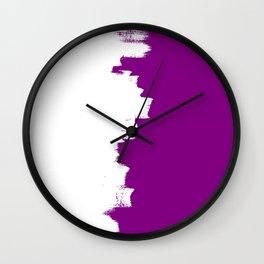 Purple imbalance Wall Clock