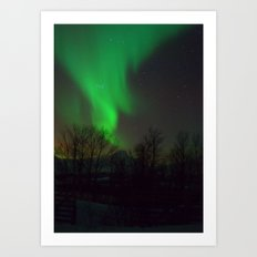 Northern Lights over Norway Art Print