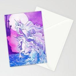 Unicorns of the Sea Stationery Cards