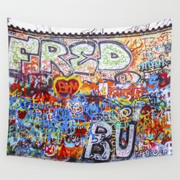 Prague's Wall Wall Tapestry