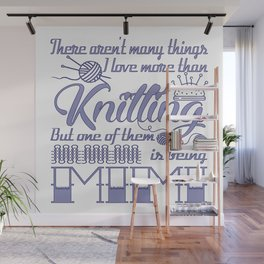Knitting Mimi Wall Mural