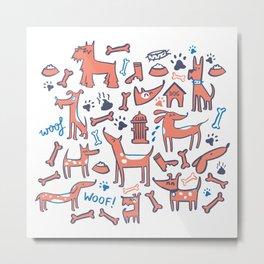 Doggies Metal Print