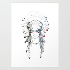 Indian man II Art Print