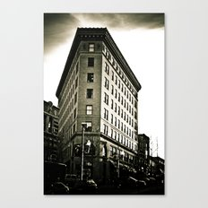 Asheville Building in Black and White Canvas Print