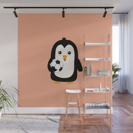 Soccer Penguin with ball T-Shirt Dg3ps Wall Mural