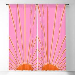 Sun Print Sunrise Pink And Orange Colors Sunshine Retro Sun Wall Art Vintage Boho Abstract Decor Blackout Curtain